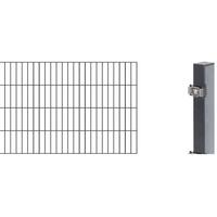GAH-ALBERTS Anbauset Doppelstabmatten 2 m, 800 mm hoch, anthrazit