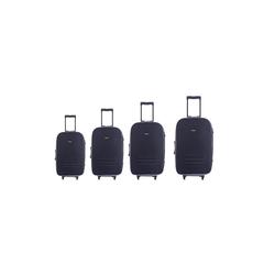HTI-Line Kofferset Kofferset 4 tlg. mit Dehnungsfuge High Level, (Set, 4 tlg), mit Dehnungsfuge, mehr Volumen