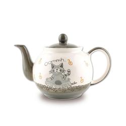 Mila Teekanne Mila Keramik-Teekanne Oommh Katze Pure ca. 1,2, 1,2 l