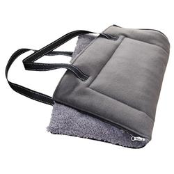 Nobby Matte/Tasche eckig Shanta grau für Hunde, Maße: 90 x 60 cm