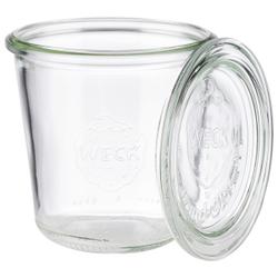 APS Weck Gläser mit Deckel, Sturzform 290 ml, Je 6 Einmachgläser + 6 Deckel zum Einwecken von Lebensmitteln, Maße (Ø x H): 9 x 9 cm