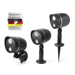 HD Außenkamera mit LED Leuchte und Bewegungserkennung - schwarz