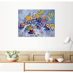 Posterlounge Wandbild, Trauben, Zitronen, Birnen und Äpfel 130 cm x 100 cm