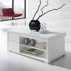 Couchtisch mit hochklappbarer Tischplatte Weiß