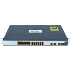 Cisco - WS-CE500-24LC - 24 10/100 (4 PoE) and 2 10/100/1000BT or SFP uplinks, GUI