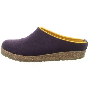 Haflinger Grizzly Kris, Pantoffeln, Unisex-Erwachsene, Filz aus reiner WolleViolett (Lavendel 90),36 EU