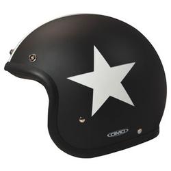 DMD Vintage Star Black Jet-Helm M