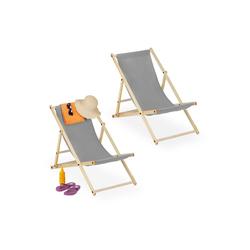 relaxdays Gartenliege Liegestuhl Holz 2er Set