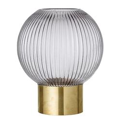 Bloomingville Vase graues Glas Ø18x25cm