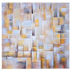 Ölgemälde Cubes, 100% handgemaltes Wandbild Gemälde XL, 100x100cm