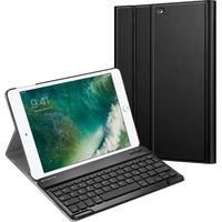 Fintie Tablet-Hülle Keyboard Case, 9.7 Zoll, für iPad 2018 / 2017, schwarz, mit Tastatur