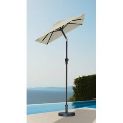 garten gut Sonnenschirm, LxB: 120x190 cm, abknickbar, ohne Schirmständer natur