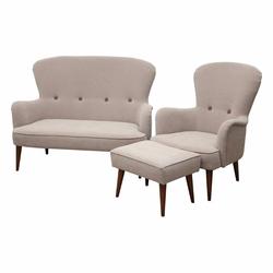 Komplet wypoczynkowy Zardab sofa i fotel z podnóżkiem