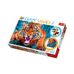 Trefl Puzzle Crazy Puzzle - 600 Teile - Tiger, Puzzleteile