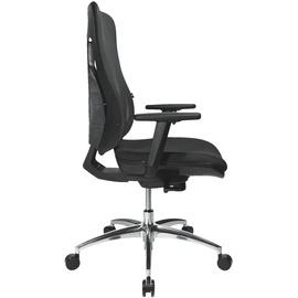 TOPSTAR Sitness Net Pro 100 mit Armlehnen schwarz / alu poliert