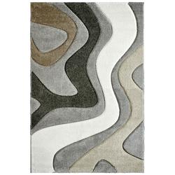 Moderner Teppich - Waves (Silber; 200 x 290 cm)