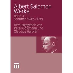 Albert Salomon Werke als Buch von Albert Salomon