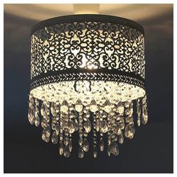 Grafelstein Wandleuchte Hängelampenschirm MARRAKECH weiß Lampenschirm aus Metall mit Kristallen