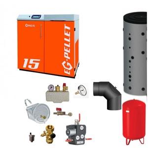 Pelletkessel EKOGREN EG-Pellet 15 kW Bafa gefördert | Komplettset 2