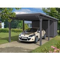 SKANHOLZ Emsland mit Abstellraum 3,15 x 7,38 m grau inkl. EPDM-Folie