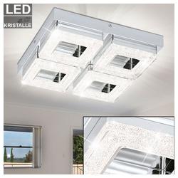 EGLO Deckenleuchte, LED 16 W Decken Wand Strahler Esszimmer Chrom Küchen Kristall Leuchte A Eglo 95657