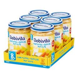 Bebivita Menü Kartoffel-Gemüse mit Pute 220 g, 6er Pack