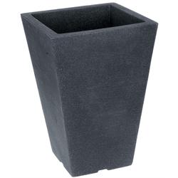 Hoher Blumentopf MODERN LOUNGE DESIGN - Grau Steinoptik Pflanztopf 24x24x36