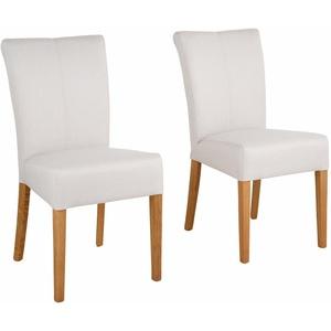 Home affaire 4-Fußstuhl Queen (Set, 2 Stück), bezogen mit Web- oder Strukturstoff, Microfaser oder Kunstleder. Im 2er-, 4er oder 6er-Set beige