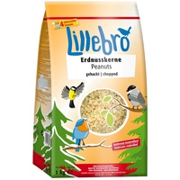 Lillebro 3 x 1kg Erdnusskerne gehackt Lillebro Wildvogelfutter