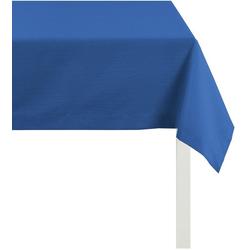 APELT Tischdecke 4362 Rips - UNI (1-tlg) blau quadratisch - 100 cm x 100 cm