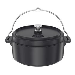 RÖSLE BBQ Dutch Oven 35 cm emailliert für VARIO-Grillrostsystem