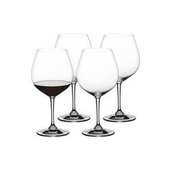 Nachtmann Rotweinglas ViVino Burgunderglas Rotweinkelch 4er Set (4-tlg), Kristallglas
