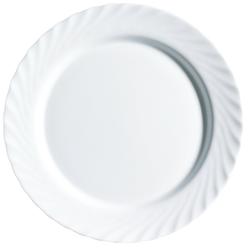Arcoroc Speiseteller Trianon Uni, Teller flach 15.5cm Opalglas weiß 6 Stück Ø 15.5 cm x 1.3 cm