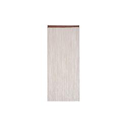Fadenvorhang Fadenvorhang braun, relaxdays 90 cm x 245 cm