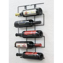 DanDiBo Weinregal Weinregal Wand aus Metall Flaschenhalter Flaschenständer Wandregal Cinco 53 cm HX13615