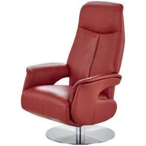 Relaxsessel rot - Leder Nils ¦ rot ¦ Maße (cm): B: 70 H: 111 T: 79