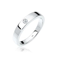Diamore Diamantring Solitär Bandring Diamant 0.02 ct. 925 Silber, Solitär-Ring 58