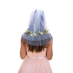 Bride to Be Brautschleier mit Haarkamm JGA Hochzeit Schleier weiß gold