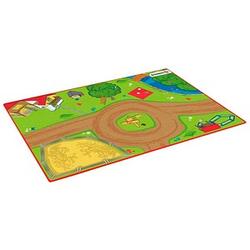 Schleich® Spielteppich Bauernhof grün/braun 92,0 x 133,0 cm