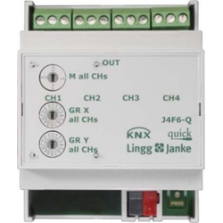 Lingg&Janke Jalousie-/Rollladenaktor 6-fach J6F6-Q KNX-Q Q79434