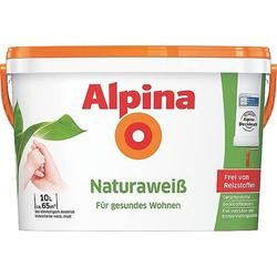 Alpina Farben Wandfarbe Naturaweiß 559462 10l