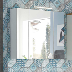 Bad Spiegelschrank mit LED Beleuchtung 3 türig