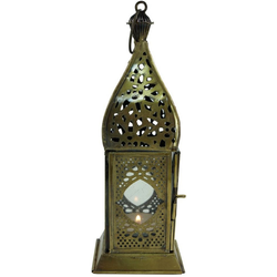 Guru-Shop Laterne Orientalische Metall/Glas Laterne in..