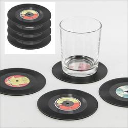 Getränkeuntersetzer Schallplatte 4er Set