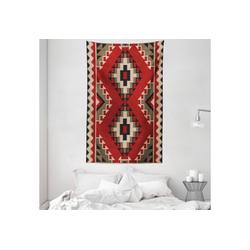 Wandteppich aus Weiches Mikrofaser Stoff Für das Wohn und Schlafzimmer, Abakuhaus, rechteckig, afghanisch Afghan Stil Motive 140 cm x 230 cm