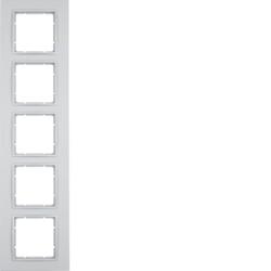 Berker 10156424 ,Rahmen 5fach B.7 alu matt