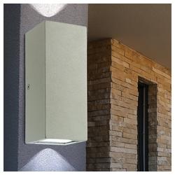 etc-shop LED Außen-Wandleuchte, LED Edelstahl Außen Wand Leuchte Up & Down Fassaden Strahler Haustür Garagen Gartenhaus Lampe