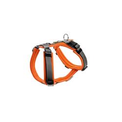 Hunter Hunde-Geschirr Maldon gepolstert, Mesh orange XXS - 34 cm - 49 cm