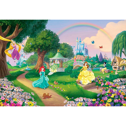 KOMAR Fototapete Disney Princess Rainbow bunt