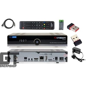 Octagon SF8008 4K UHD E2 Linux Single Sat (DVB-S2x) Receiver inkl. 150 Mbit WLAN Stick Mini